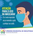 Câmara incentiva uso de máscaras pela população